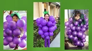 Kids in grape costumes